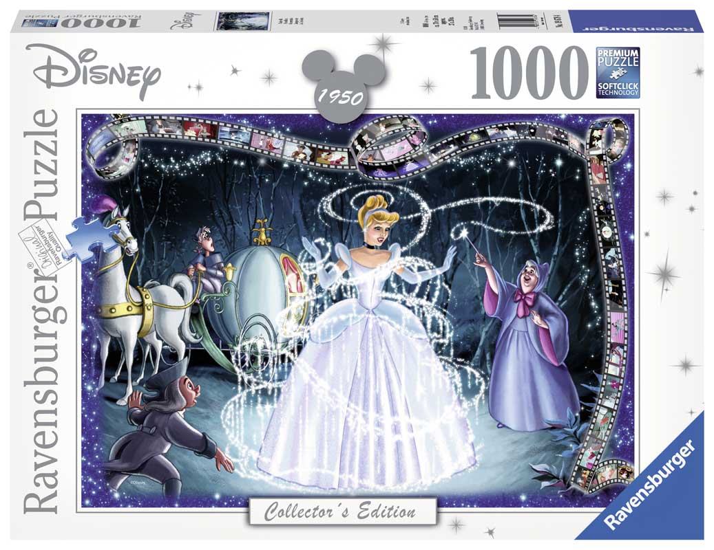Ravensburger Pussel - Disney, Askungen 1000 bitar Collectors Edition