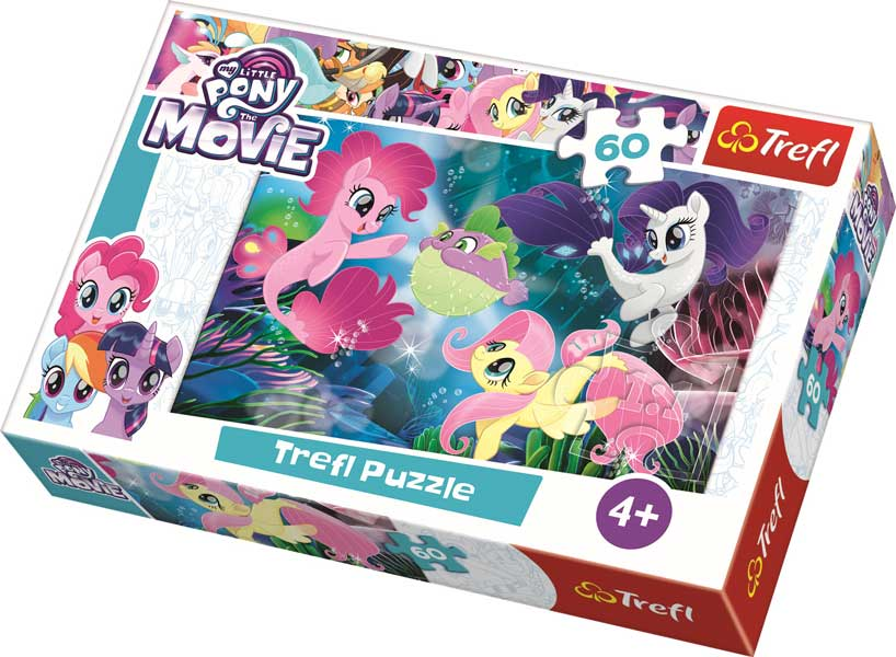 Trefl Pussel - My Little Pony: Under vattenytan 60 Bitar (Utgått)