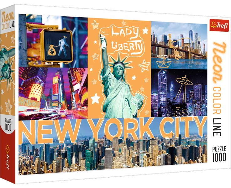 Trefl Pussel - Neon City: New York 1000 Bitar